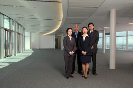 Business people in empty office