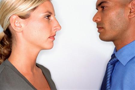 Profiles of male and female Фото со стока