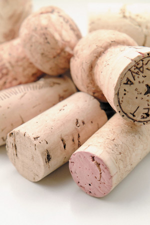 Corks background. Stock Photo
