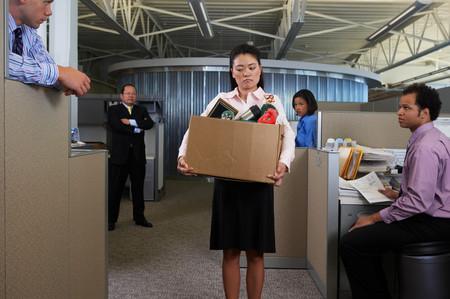 Fired businesswoman