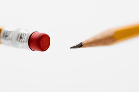 Pencil with eraser background.