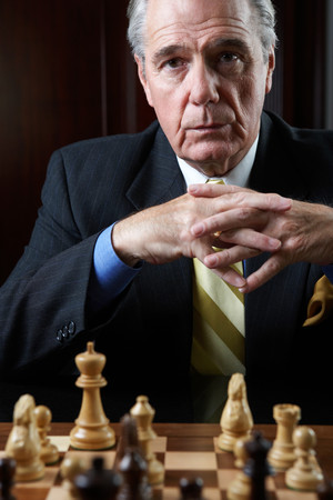 Ceo playing a game of chess