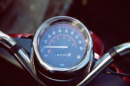 Speedometer on scooter