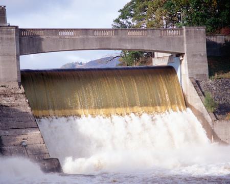 Water dam background. Stock Photo
