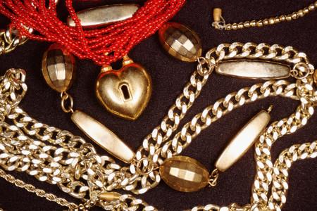 Jewelry accessories background.