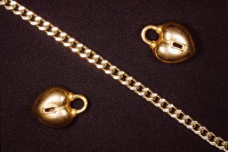 Jewelery with black background