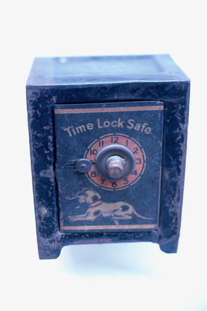 Blue time lock safe
