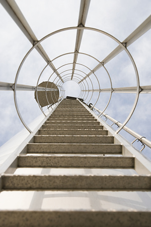 Low angle view of a ladder