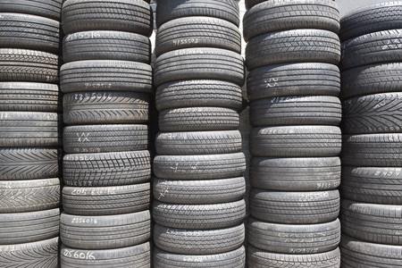 Stack of tires Reklamní fotografie