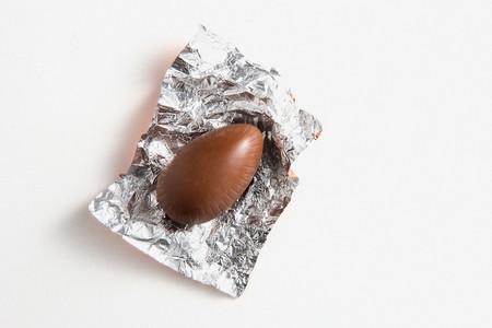 Chocolate in foil wrapper