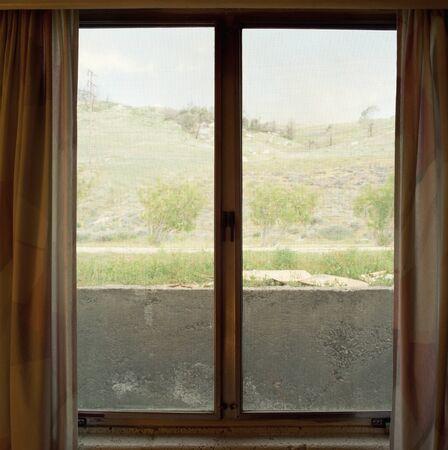 Desolate view through a window