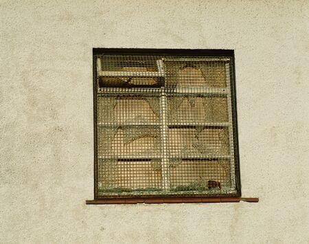 A boarded up window