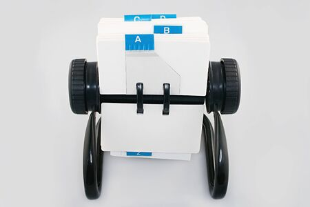 Rotary card file Stock fotó