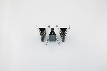 Three binder clips Reklamní fotografie