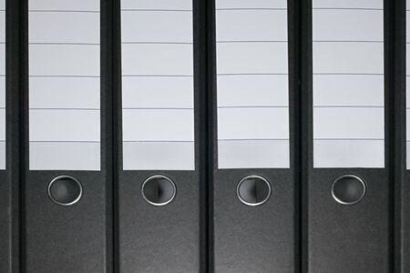 Row of ring binders Reklamní fotografie