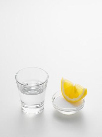 Tequila lemon and salt 版權商用圖片