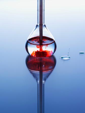 Liquid in a scientific flask