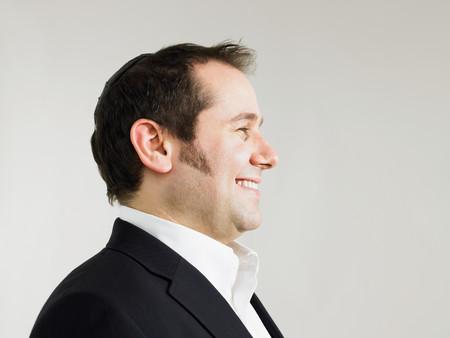 Jewish man wearing a kippah