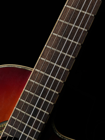 Guitar neck Stock Photo