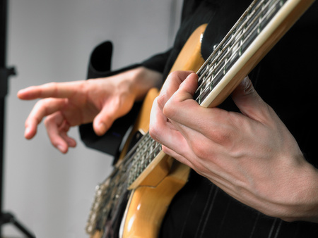 One electric guitar player Reklamní fotografie