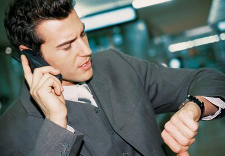 Businessman on phone Stock fotó