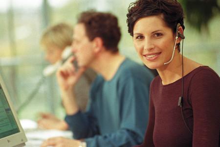 Call centre Foto de archivo