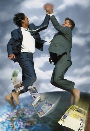 Joyful businessmen