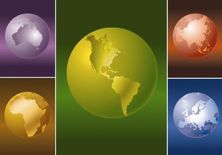 Earth globes 스톡 콘텐츠