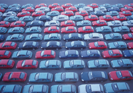 Cars in a row