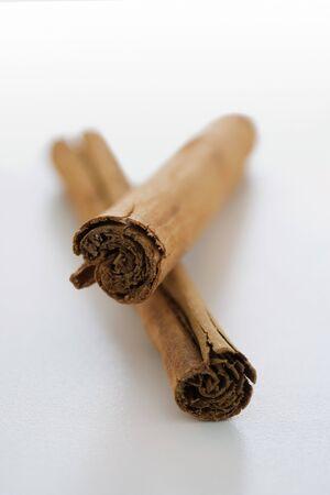 Two cinnamon sticks