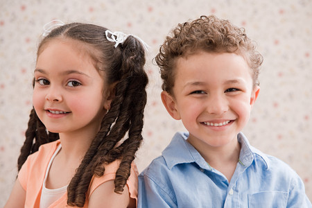 Girl and boy Stock Photo
