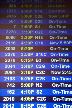 Arrival departure board Фото со стока