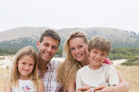 Family outdoors Фото со стока