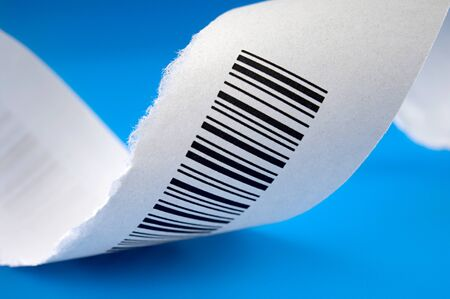 Barcode on a piece of paper