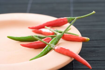 Chilli peppers on a plate