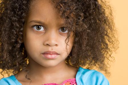 Girl looking sullen