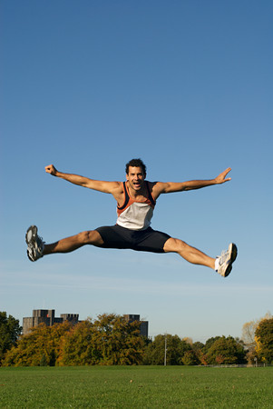 A man jumping Stock Photo