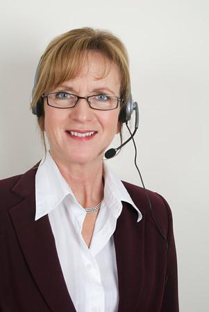 Portrait of a businesswoman wearing a headset Stockfoto