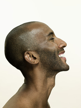 Head of a smiling man