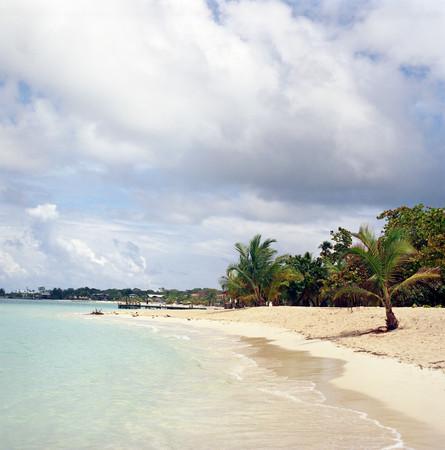 A beach on roatan honduras Stock Photo