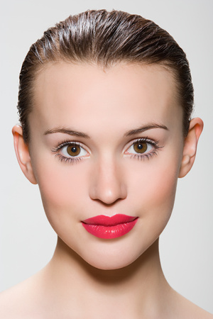 Gesicht einer jungen Frau