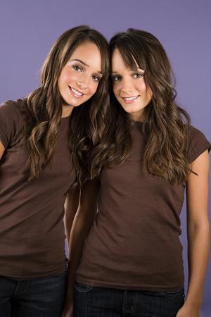 Tweelingzussen Stockfoto