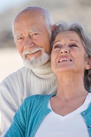 Smiling senior couple Stok Fotoğraf