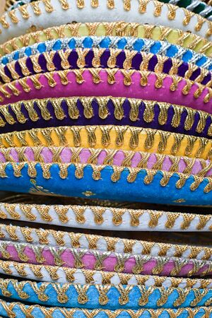 A stack of sombreros