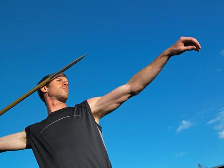Male javelin thrower