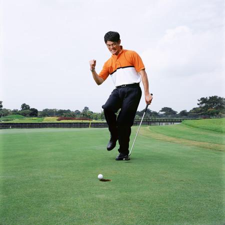 Man golfen