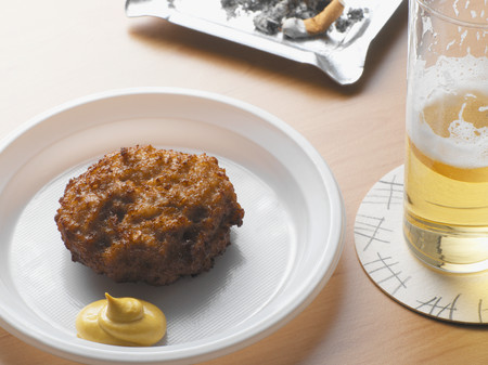 Rissole and a lager