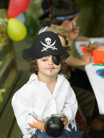 Boy in a pirate outfit Imagens