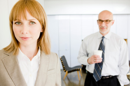 Businesswoman Looking At Viewer Stock Photo