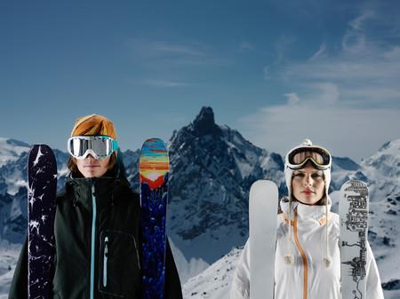 Portrait Of Skiers 写真素材